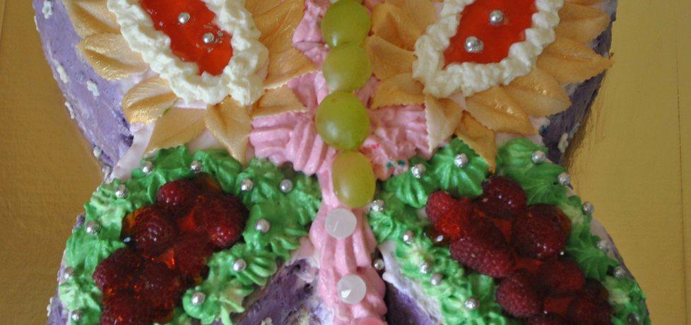 Lekki tort owocowy- motyl (autor: smerfetka79)