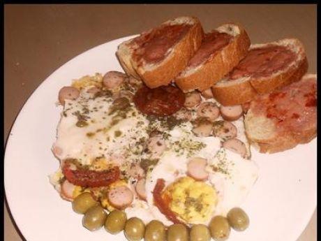 Przepis  jajka sadzone na parówkach by noruas przepis