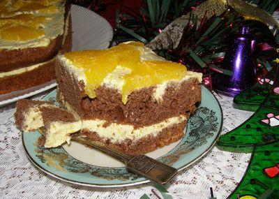 Piernikowe ciasto z kremem z serka homogenizowanego ...