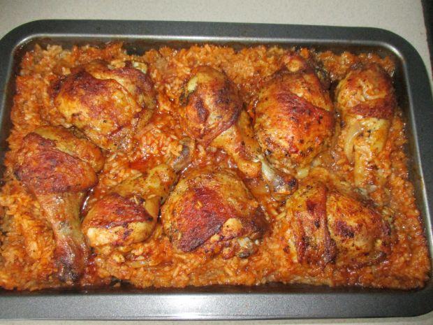 Przepis  udka kurczaka zapiekane z ryżem przepis