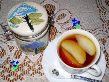 Przepis  herbata z lawendą i jabłkiem : przepis