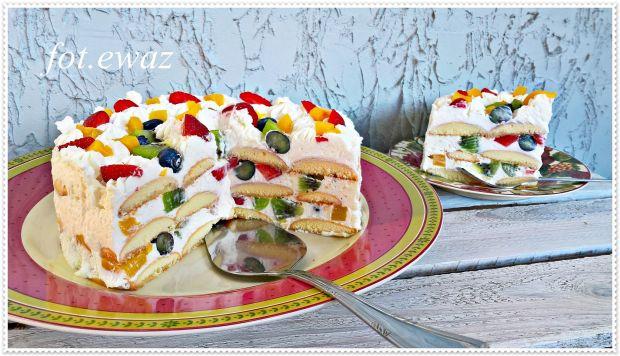 Przepis  owocowy tort bez pieczenia przepis