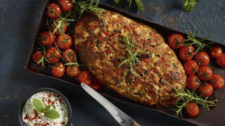 Chlebek mięsny po grecku