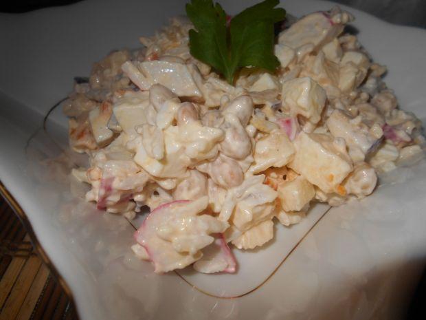 Przepis  sałatka z ryżem i surimi przepis