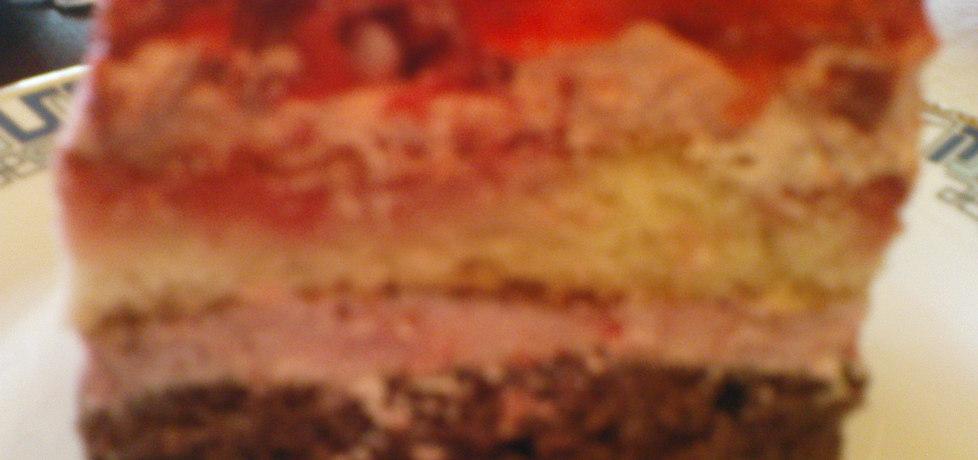 Ciasto biszkoptowe z masą i galaretką (autor: motorek ...