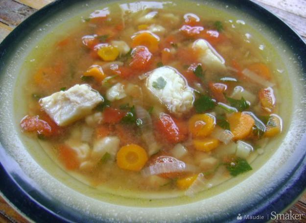 Zupa jarzynowa z dorszem