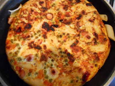 Tortilla z makaronem