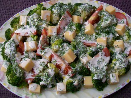 Przepis  sałatka brokułowa z sosem czosnkowo