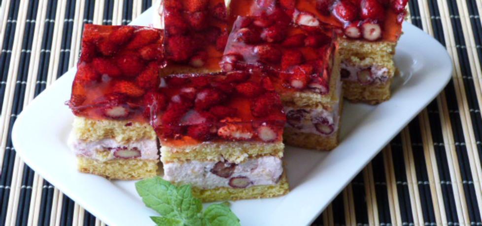 Ciasto biszkoptowe z poziomkami (autor: renatazet ...