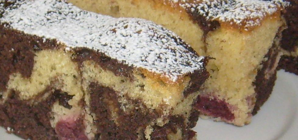 Marmurkowe ciasto z wiśniami (autor: grazyna0211 ...