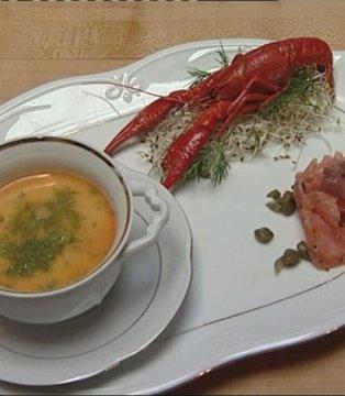 Zupa z raków, faszerowana kaczka, sernikowy mazurek, czyli ...