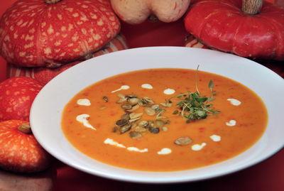 Zupa z dyni, papryki i pomidorów