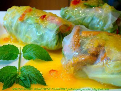 Spring rolls czyli warzywne sajgonki z ...