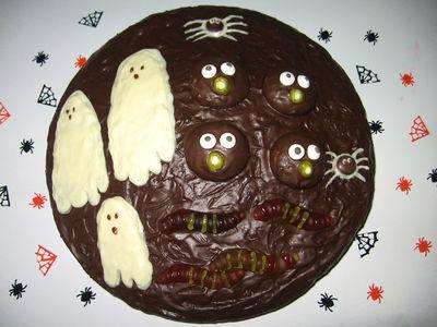 Halloweenowy tort dyniowy wg projektu ani
