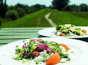 Letnia sałatka z morelami, mozzarellą i szynką serrano