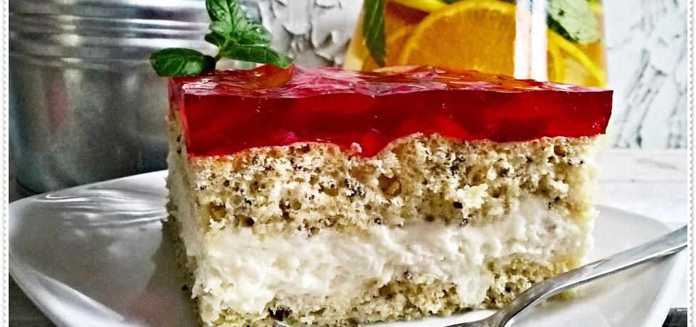 Pyszne ciasto z nektarynką i galaretką zewy (autor: zewa ...