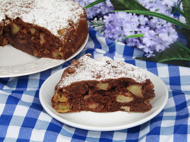 Przepis  ciasto jabłkowe z orzechami przepis
