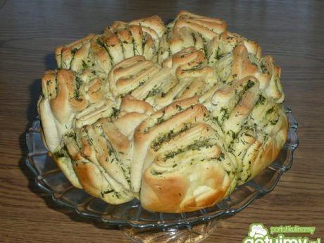 Przepis  ziołowy chlebek do odrywania przepis