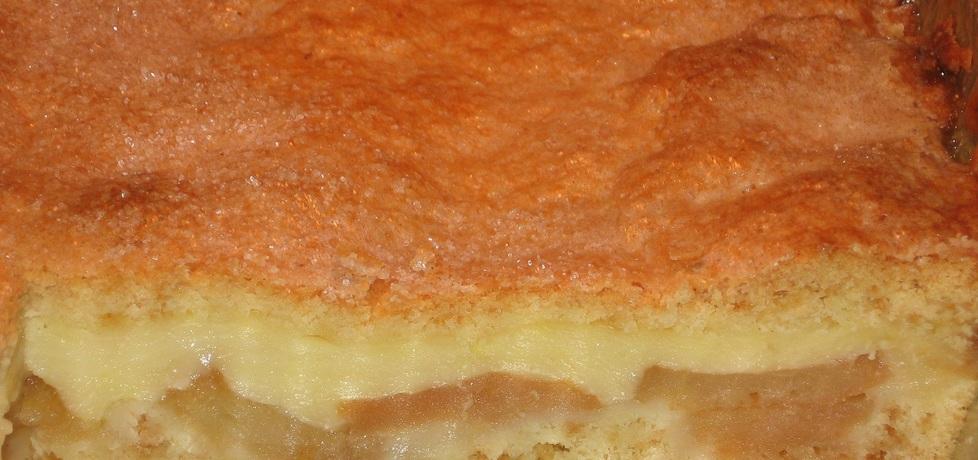 Ciasto z jabłkami i budyniem (autor: dorota59)