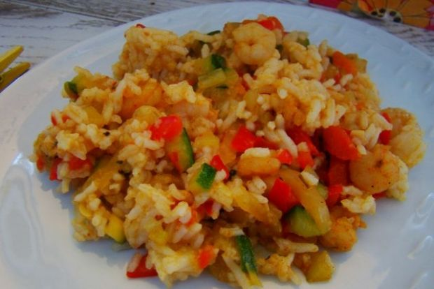 Przepis  ryż curry z krewetkami przepis