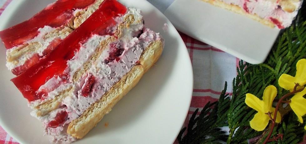 Deser z truskawkami z konfiturą na herbatnikach (autor: gosia4747 ...