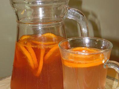 Energetyzujący napój mandarynkowy z imbirem i zieloną herbatą ...