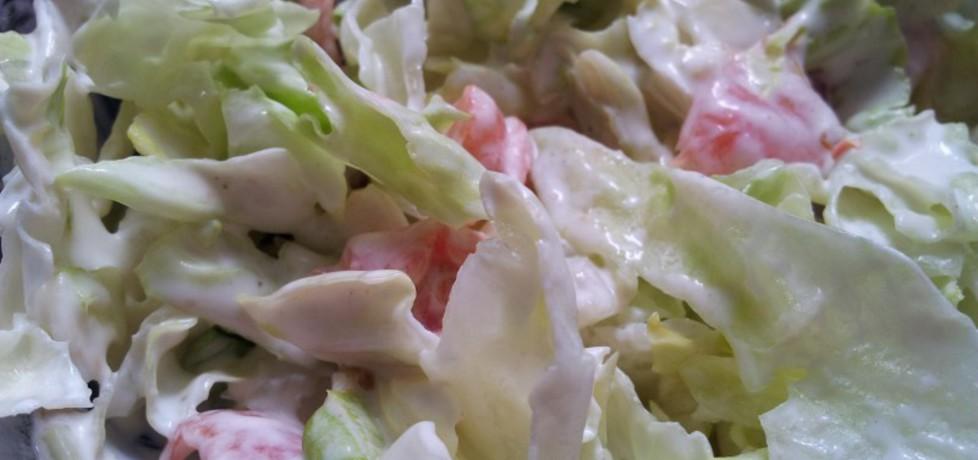Sałatka obiadowa z sosem czosnkowym (autor: krokus ...