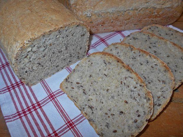 Przepis  chleb z płatkami i siemieniem lnianym przepis