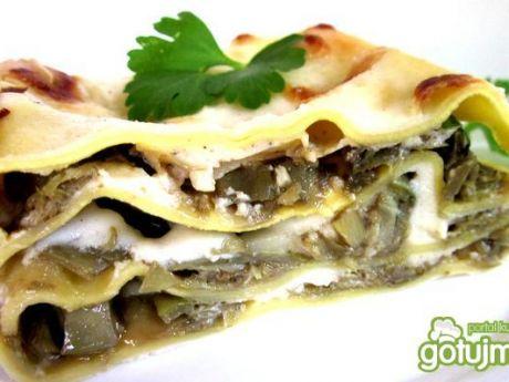 Przepis  lasagne z karczochami i mozzarellą przepis