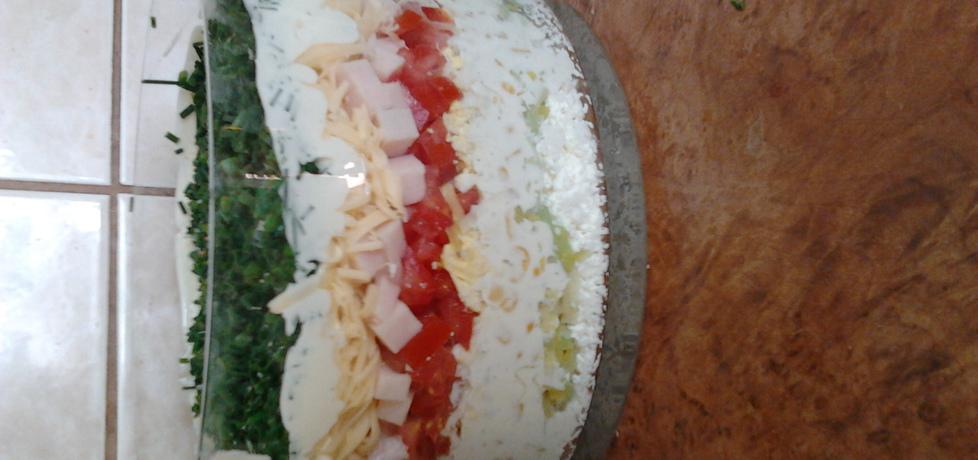 Sałatka warstwowa z białym serem (autor: joanna16 ...