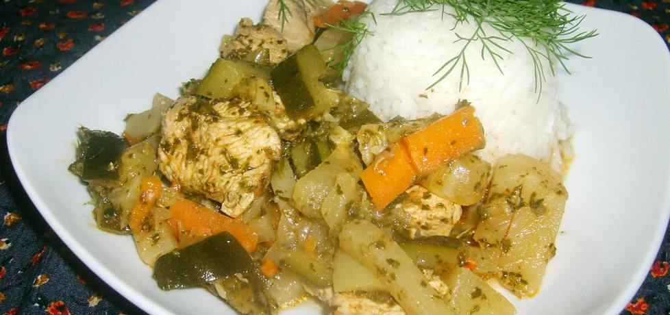 Gulasz z indyka z warzywami... (autor: w-mojej
