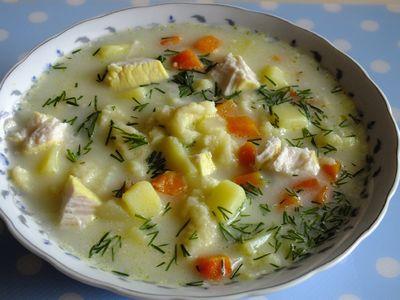 Zupa jarzynowa z lanymi kluseczkami
