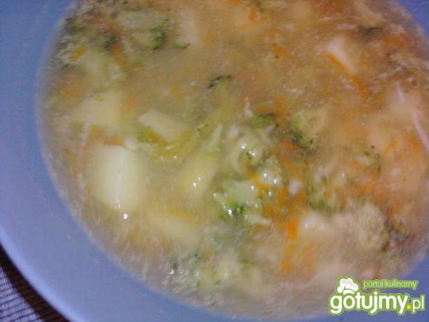 Przepis  zupa brokułowa z makaronem przepis