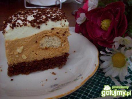 Przepis  ciasto z masą krówkową i kawą przepis