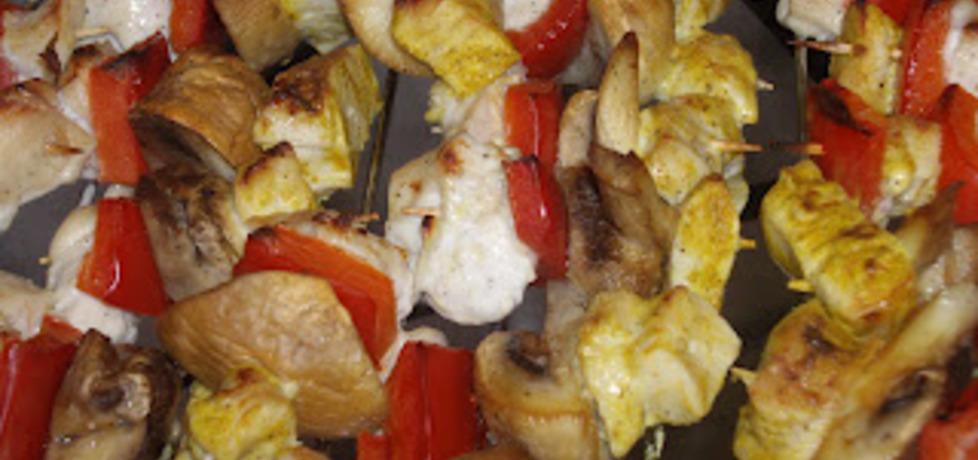 Mini szaszłyki z kurczaka curry i czosnkowe (autor: elexis ...