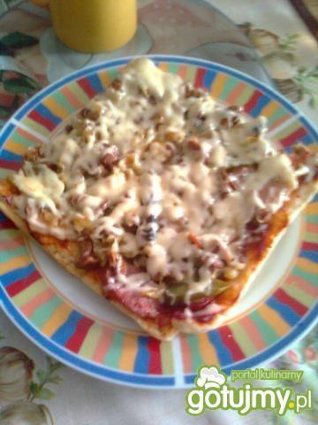 Przepis kulinarny: pizza z kurkami. gotujmy.pl