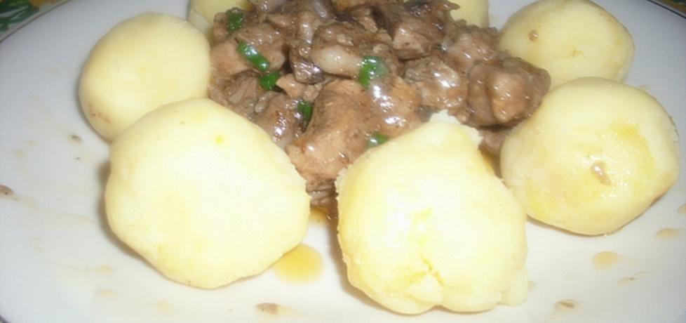 Gulasz wieprzowy z pieczarkami na piwie (autor: baasiaa ...