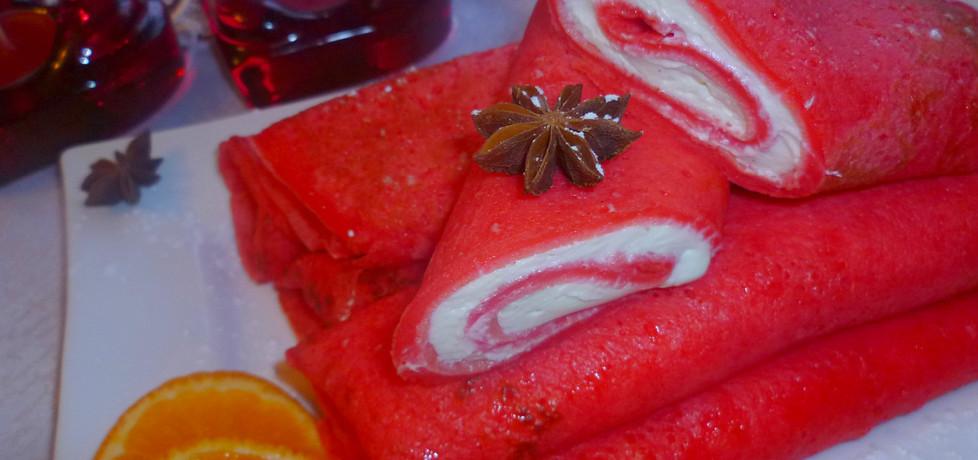 Romantyczne czerwone naleśniki z serem waniliowym (autor: marta ...