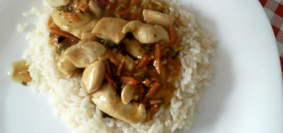 Kurczak z ryżem i pędami bambusa (autor: banditka ...