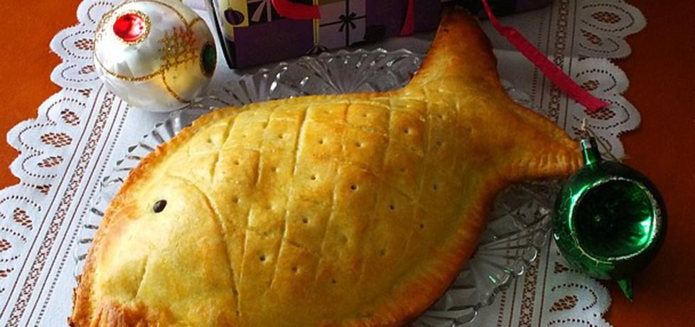 Wigilijny kulebiak z wędzonym łososiem (autor: mysiunia ...