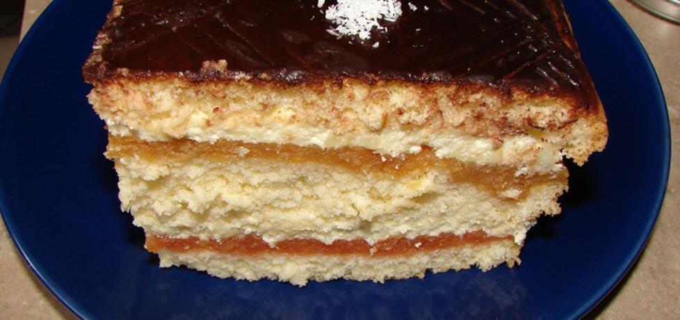 Ciasto z jabłkami i masą budyniową (autor: motorek ...