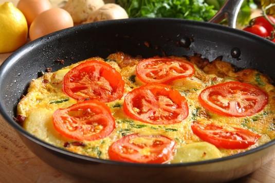 Omlet ziemniaczany z wędzonką