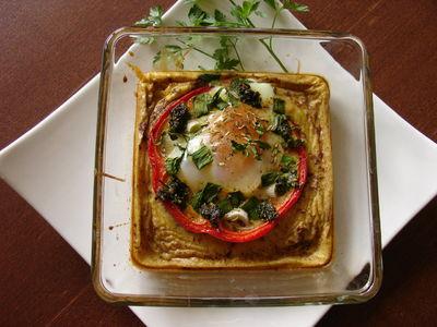 Wiosenny omlet mozaika