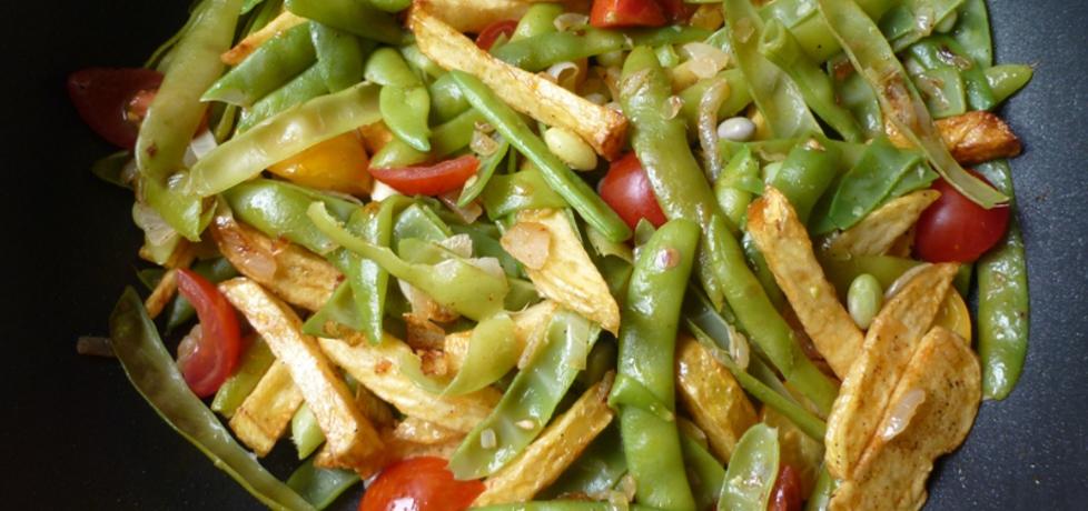 Sałatka z fasolki szparagowej z frytkami (autor: renatazet ...
