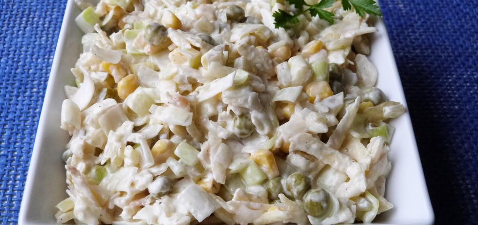 Surówka z pora i kukurydzy (autor: ikrakowianka)