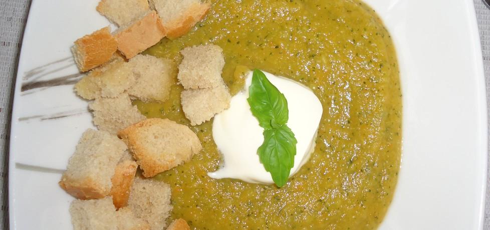 Zupa krem z warzyw ( marchew, brokuł, ziemniaki, pietruszka, seler ...