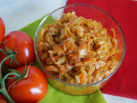 Przepis  kapusta z pomidorami przepis