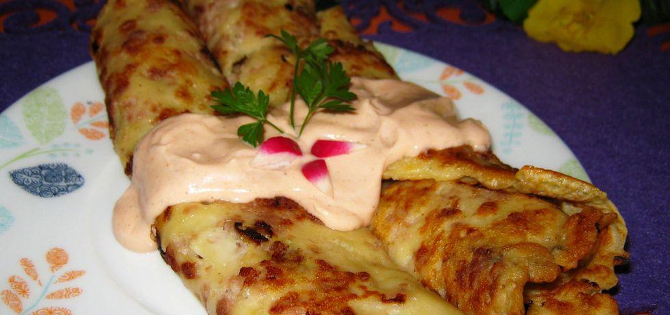 Naleśniki z mięsem i sosem (autor: katarzynka455)