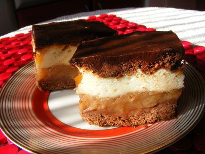 Szarlotka czekoladowa z pianką cytrynową