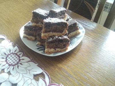 Kruche ciasto z masa jabłkowo- makową